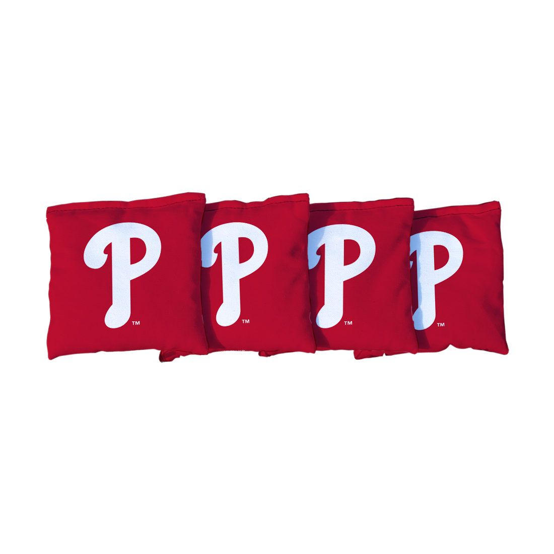 4 Philadelphia Phillies Red Cornhole Bags