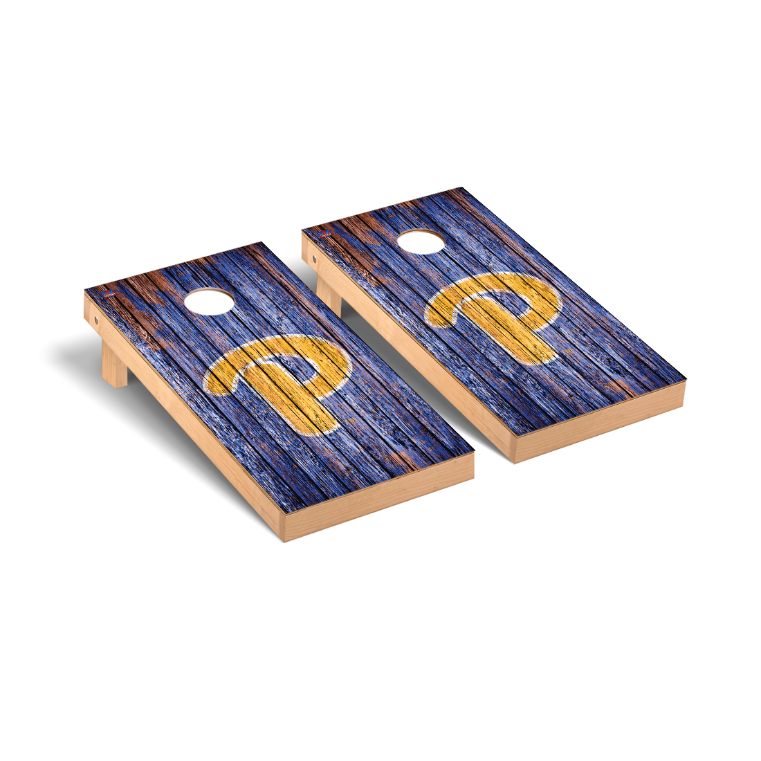 University of Pittsburgh Panthers Cornhole Game Set Weathered Version