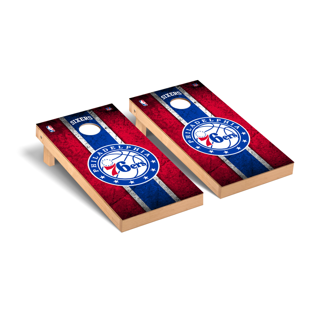 Philadelphia Sixers 76ers NBA Basketball Cornhole Game Set Vintage Version
