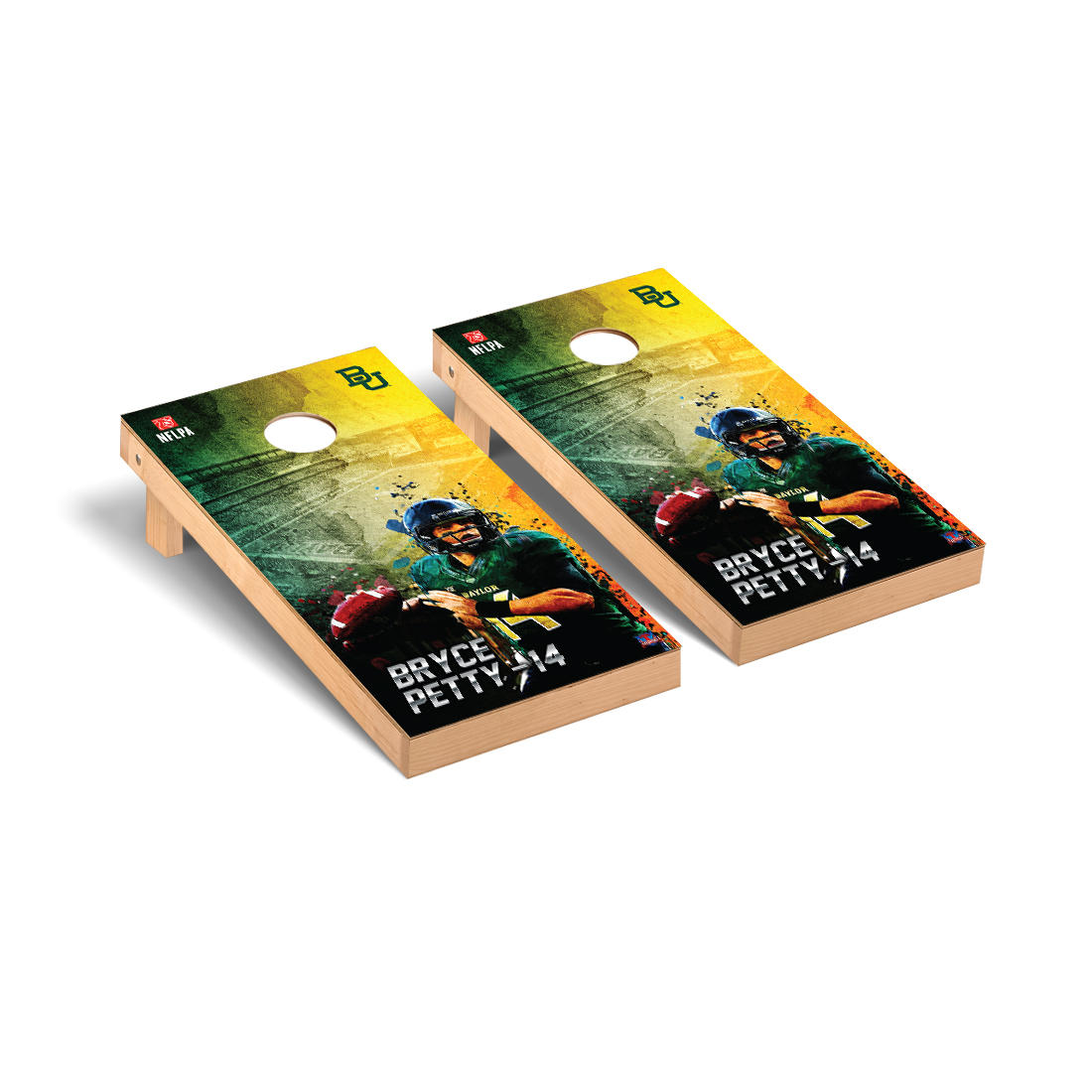 Baylor Bears Cornhole Game Set Bryce Petty 14 NFLPA Version