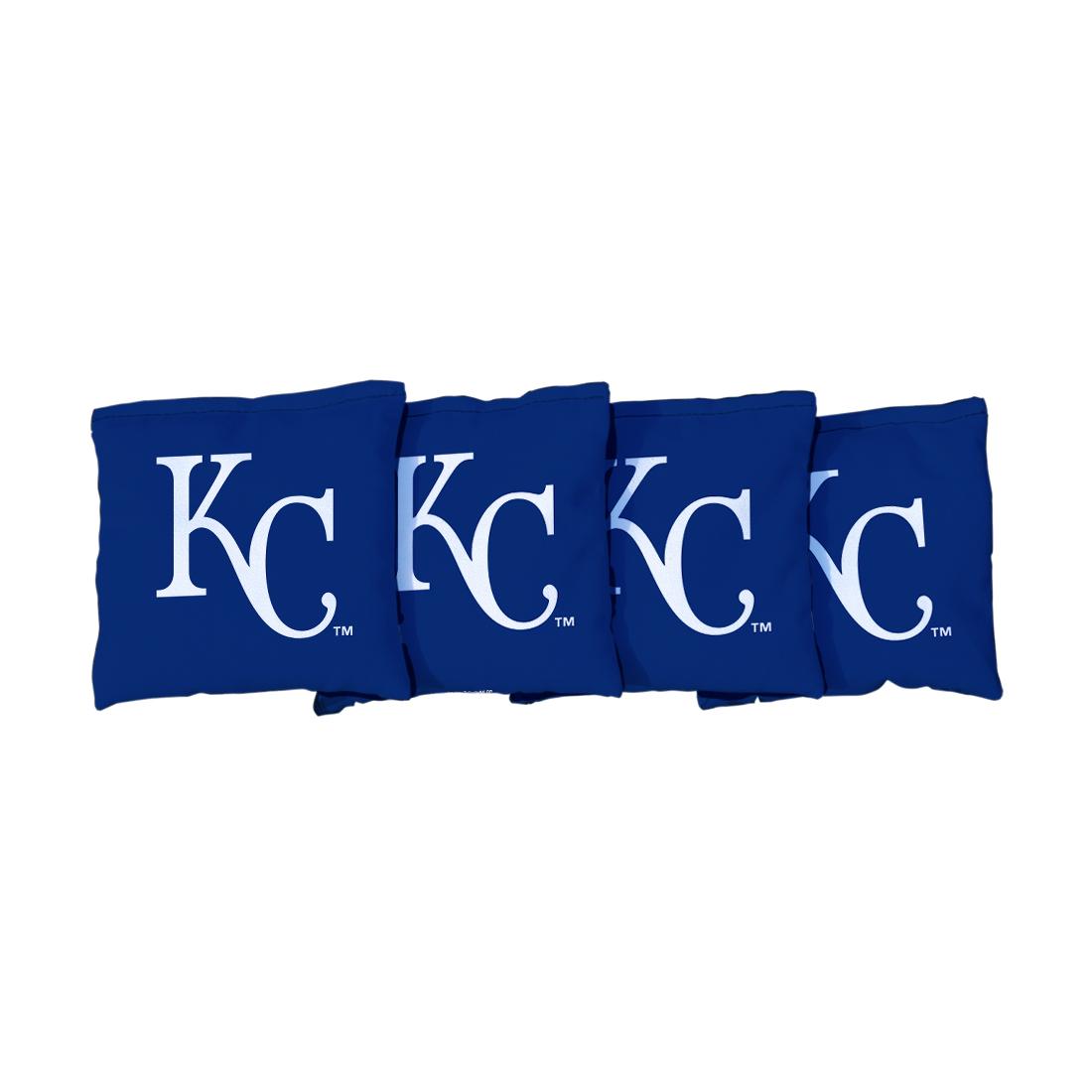 4 Kansas City Royals Dark Blue Cornhole Bags
