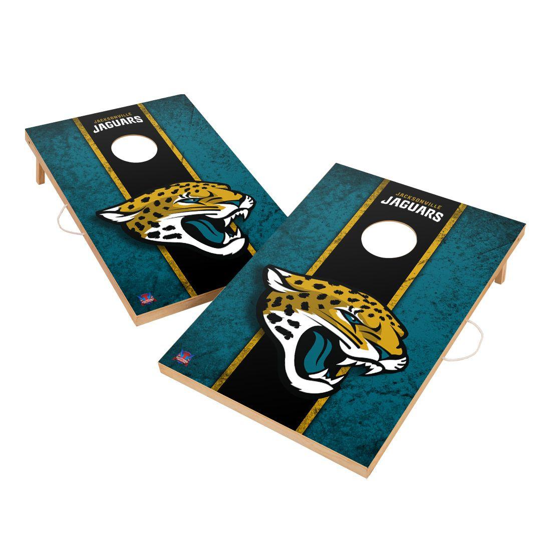 Vintage Jacksonville Jaguars NFL VT - Solid Wood 2x3 Cornhole