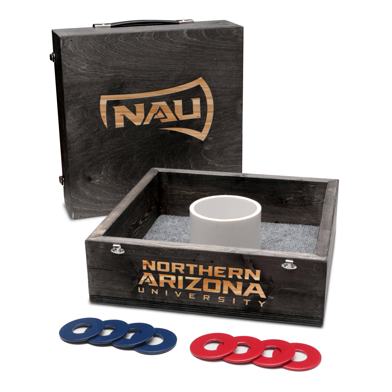 Northern Arizona University Lumberjacks Washer Game Set Onyx Stained
