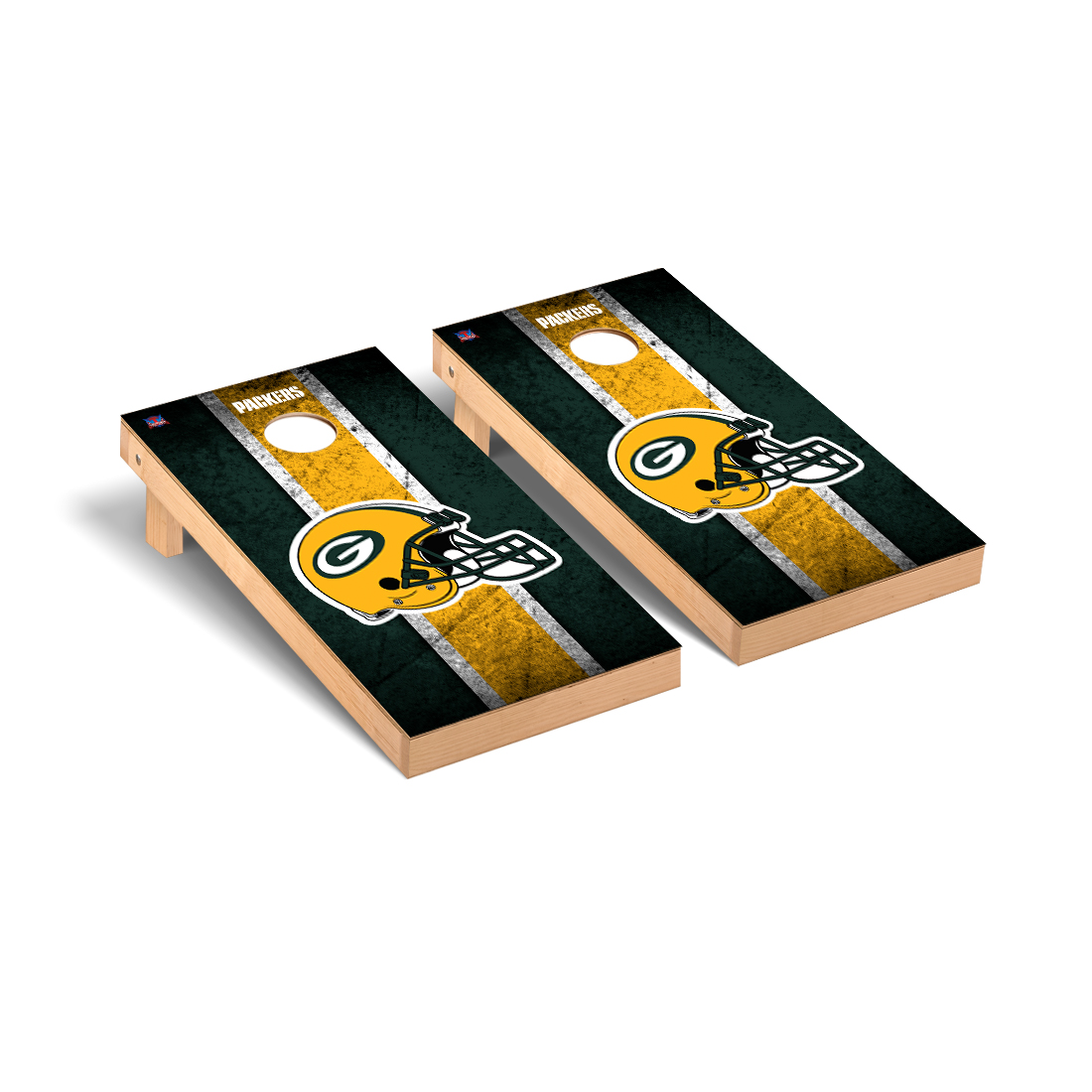 Green Bay Packers NFL Football Cornhole Game Set Vintage Version