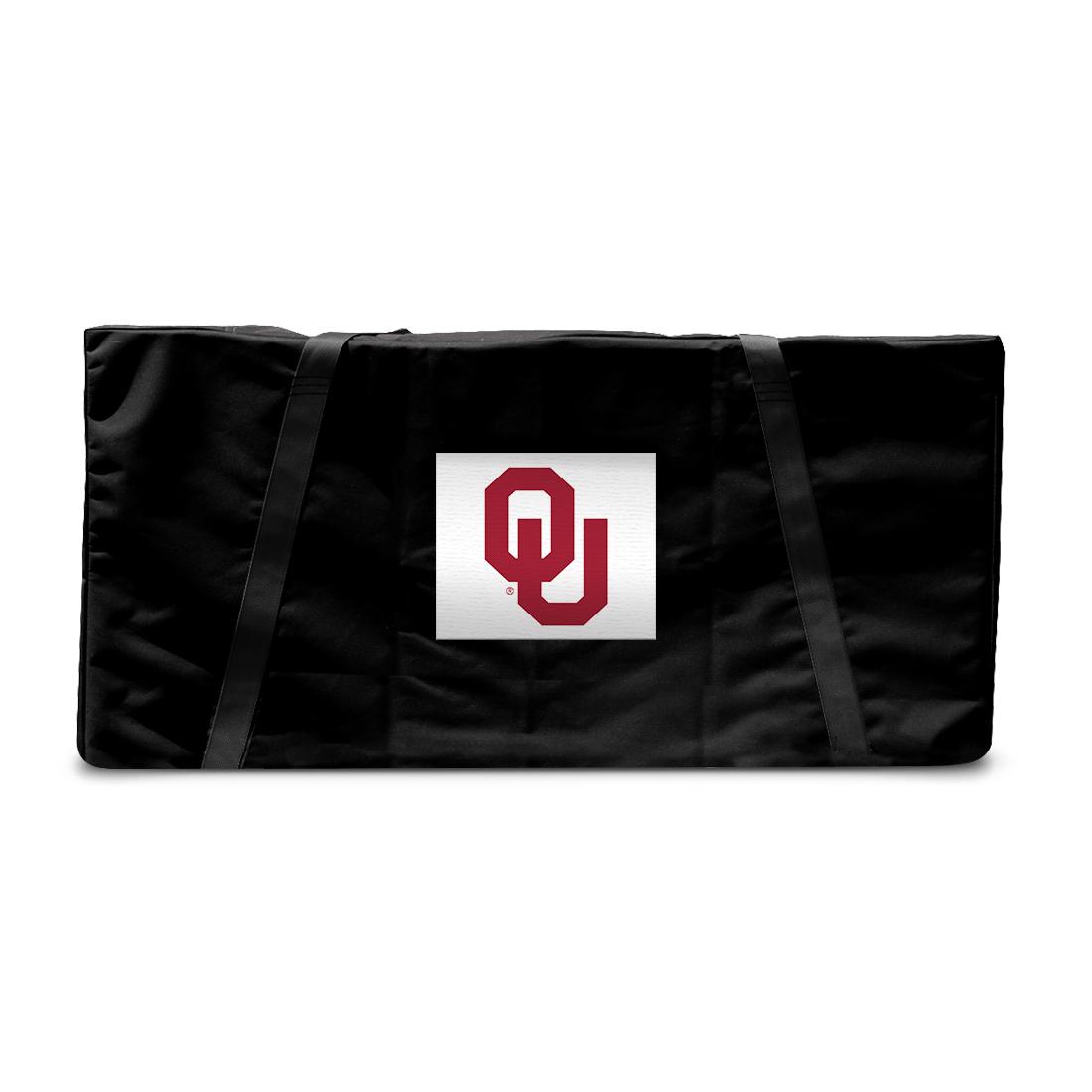 Oklahoma OU Sooners Tailgate Cornhole Storage Carrying Case