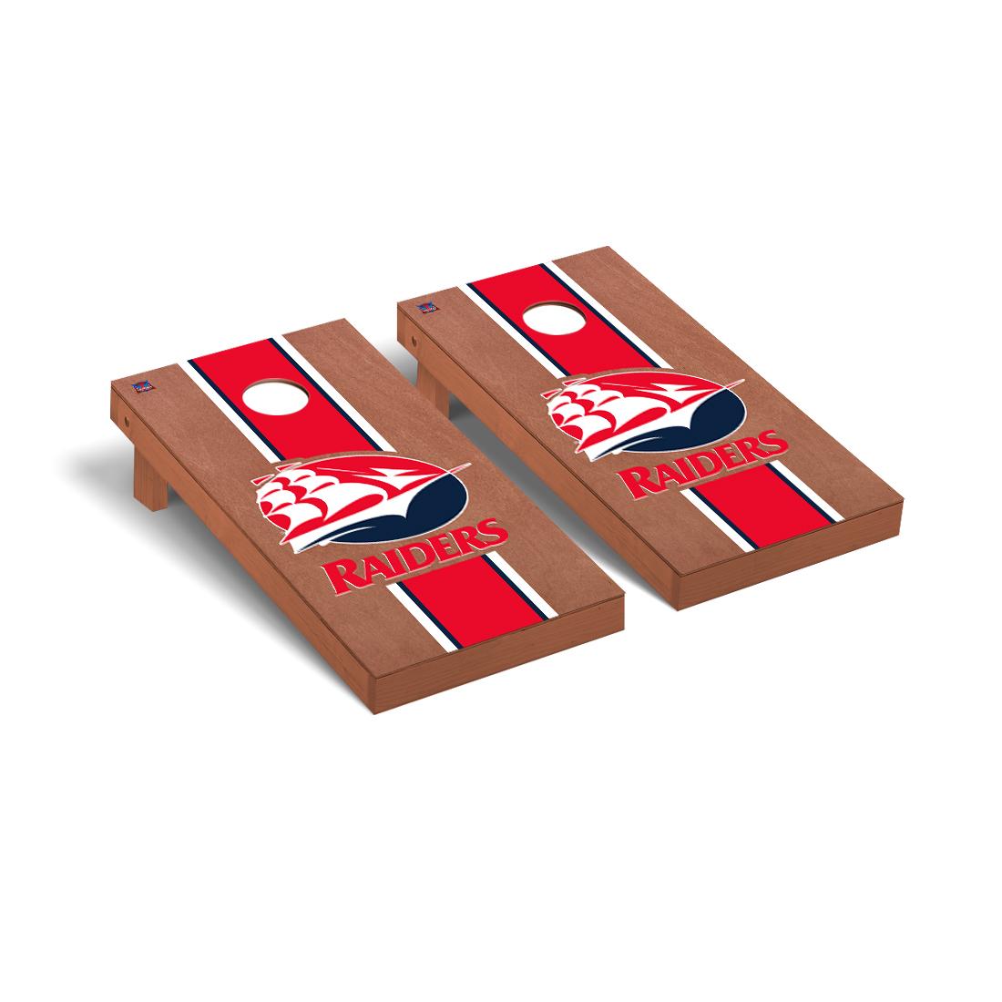 Shippensburg Red Raiders Cornhole Game Set Rosewood Stripe Version