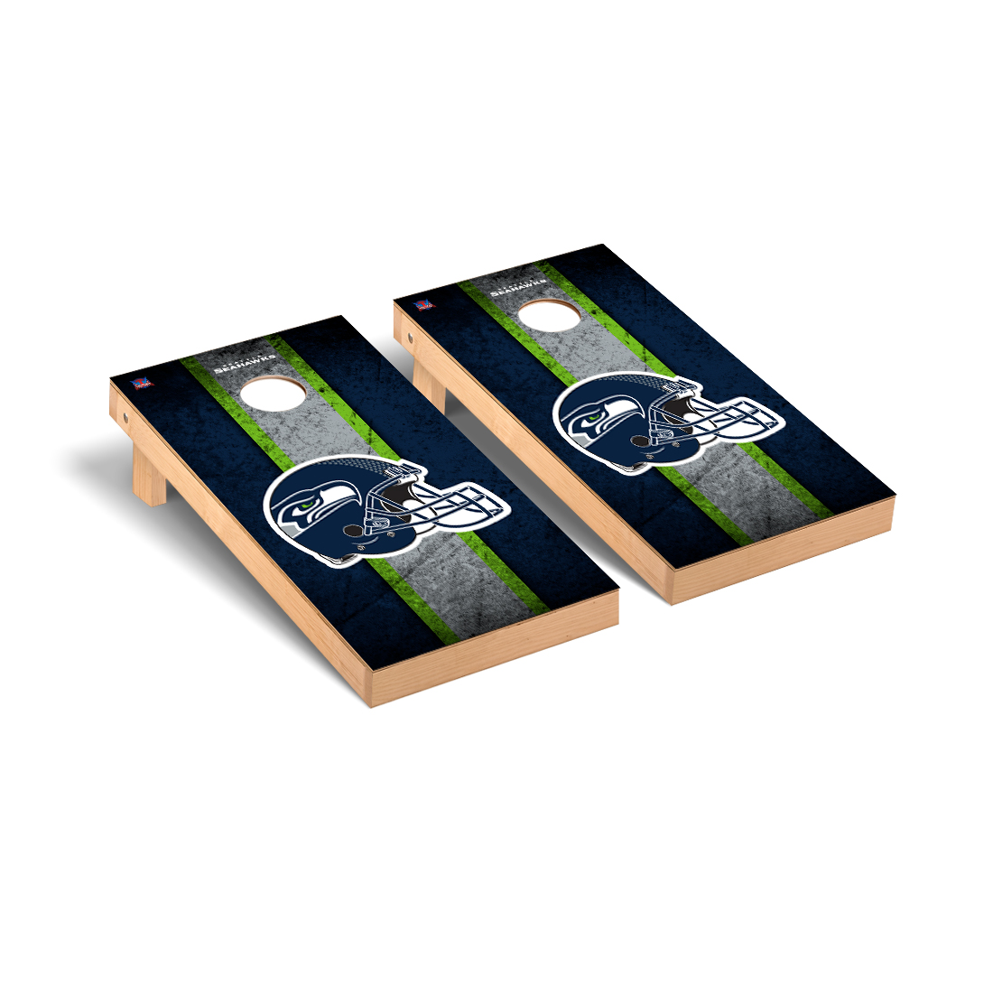 Seattle Seahawks NFL Football Cornhole Game Set Vintage Version
