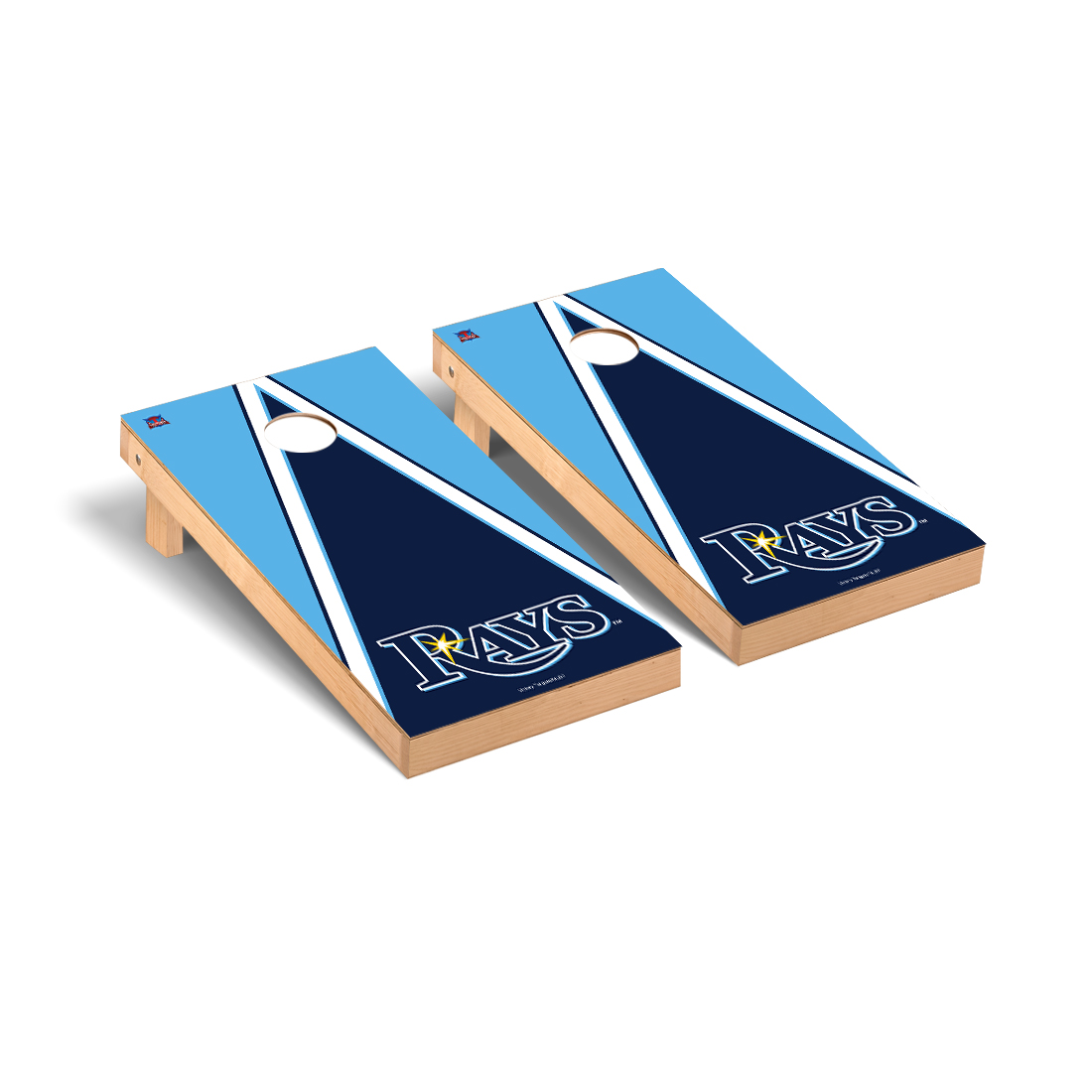 Tampa Bay Rays MLB Baseball Cornhole Game Set Triangle Version