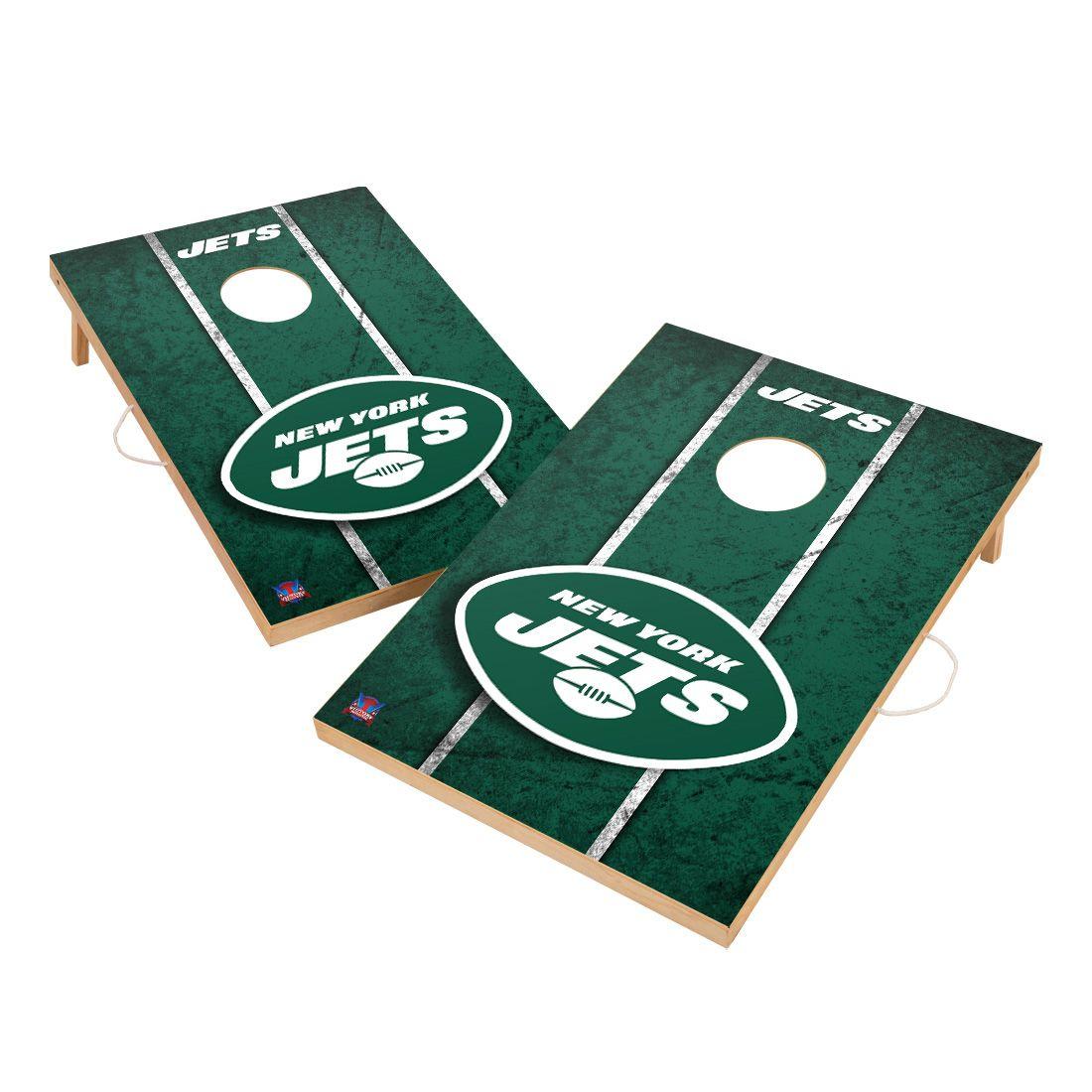 Vintage New York Jets NFL VT - Solid Wood 2x3 Cornhole