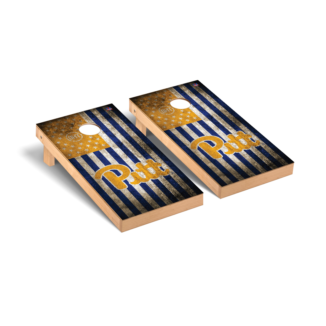 Pittsburgh Panthers -  - Cornhole Game Set OHT Vintage Flag Version