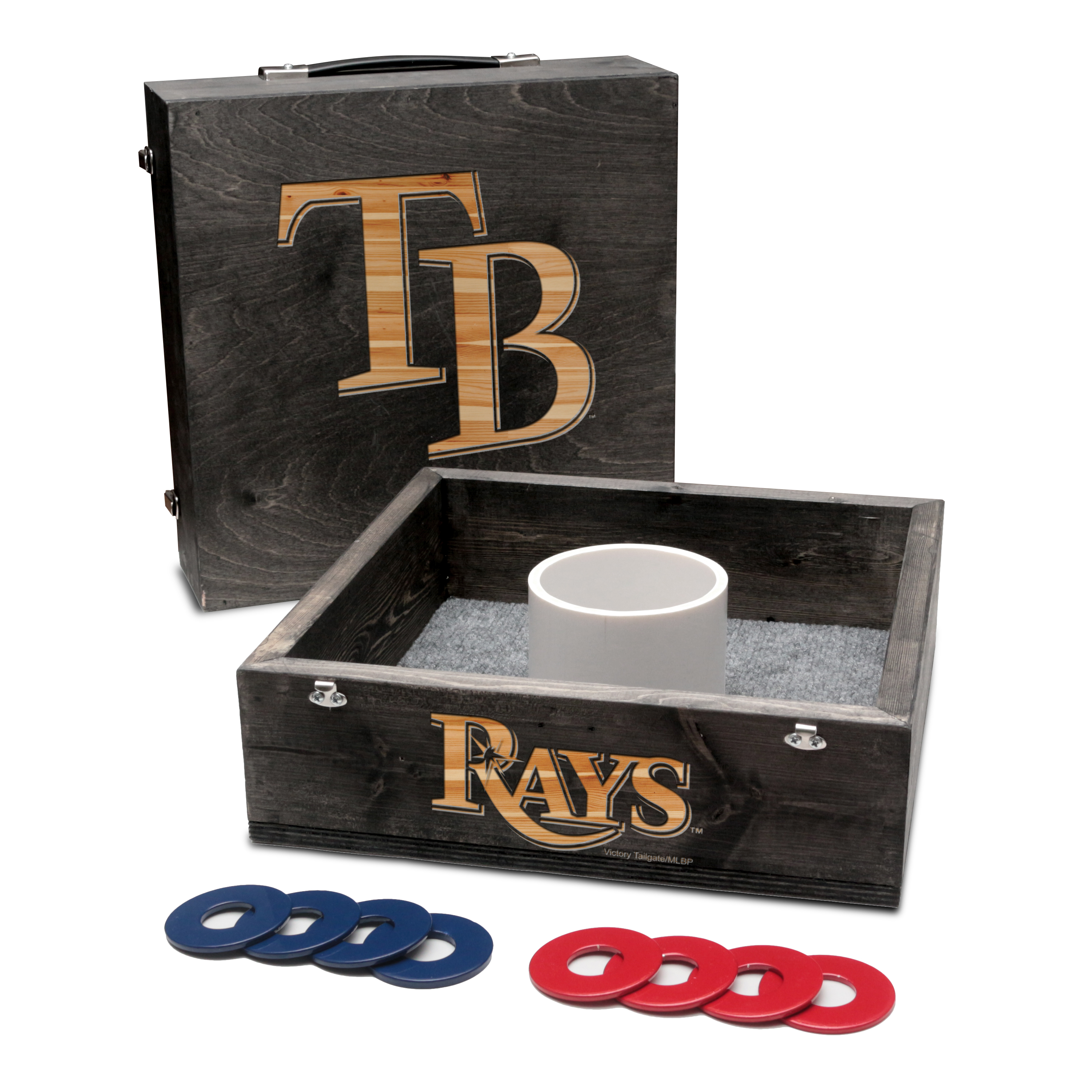 Tampa Bay Rays Washer Game Set Onyx Stained