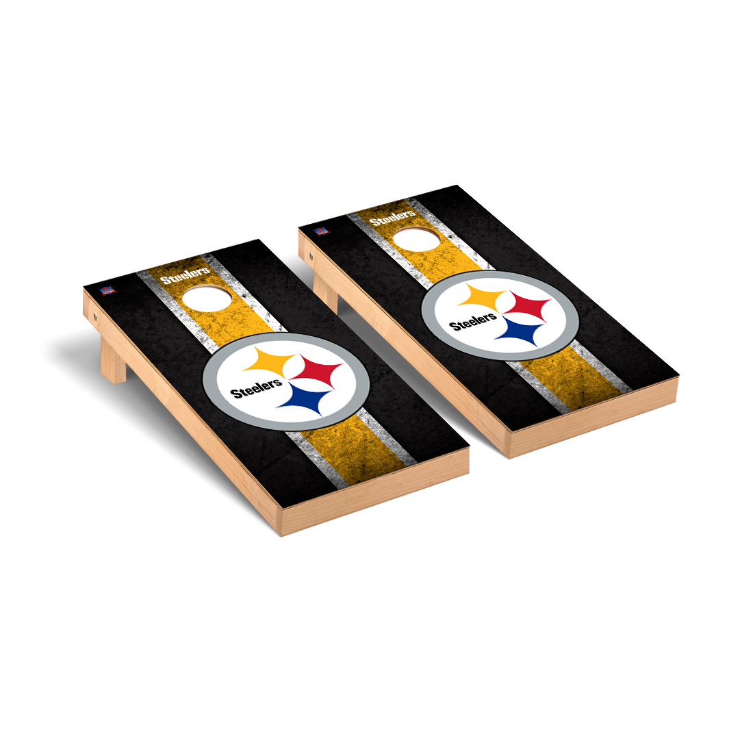 Pittsburgh Steelers NFL Football Cornhole Game Set Vintage Version 2