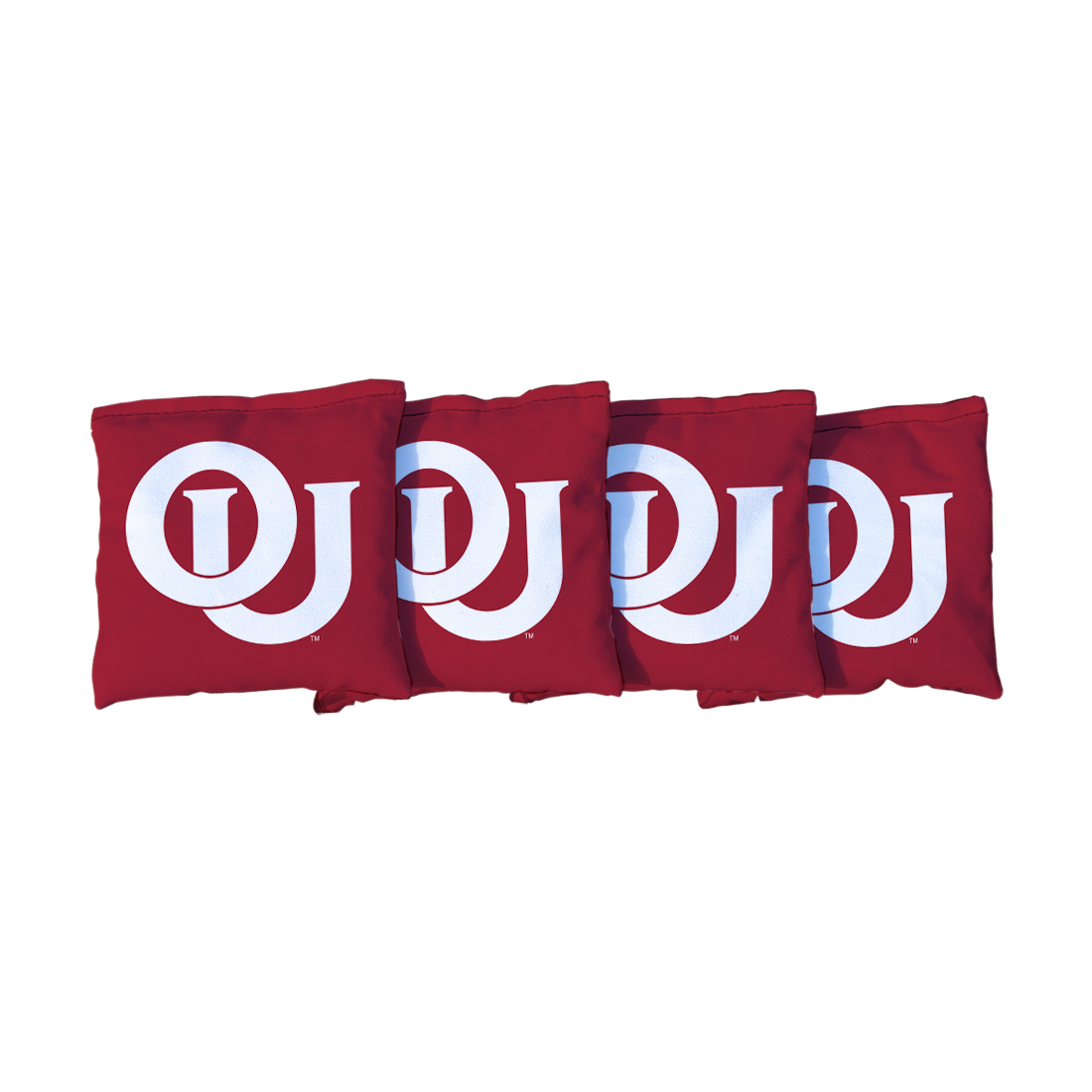4 College Vault Oklahoma Sooners Red Cornhole Bags
