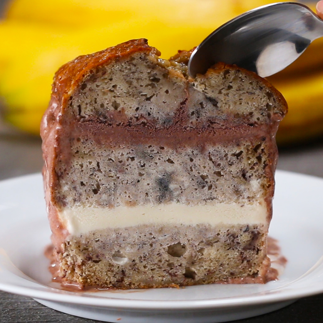 Banana bread ice cream cake recipe by tasty forumfinder Gallery