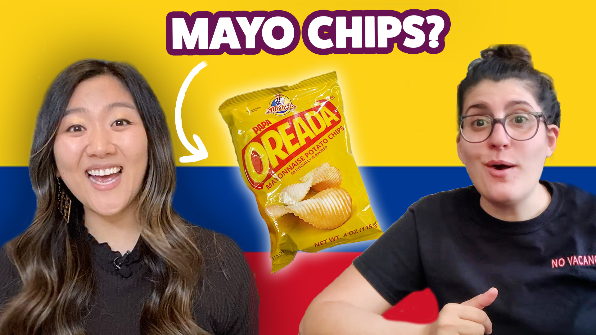 Jasmine Pak and Mireille Keuroghlian try Mayo chips!