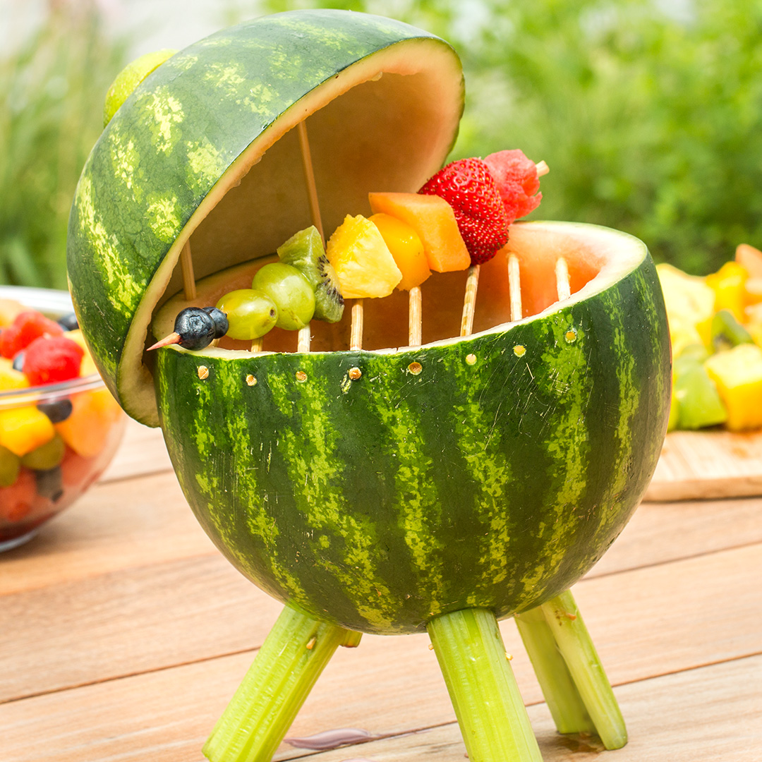 Watermelon Grill With Fruit Skewers Recipe by Tasty
