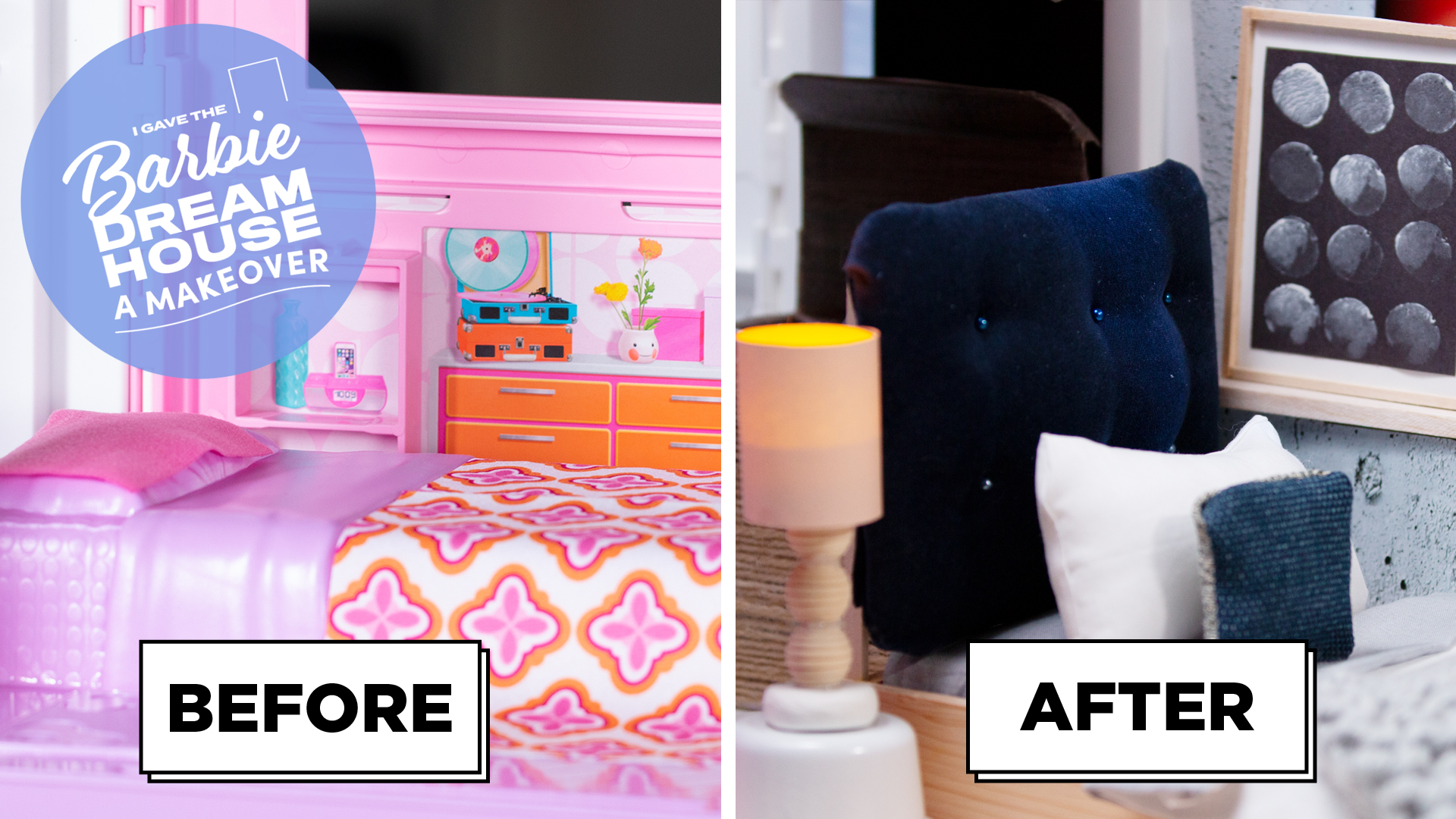 I Gave The Barbie DreamHouse A Bedroom Makeover -