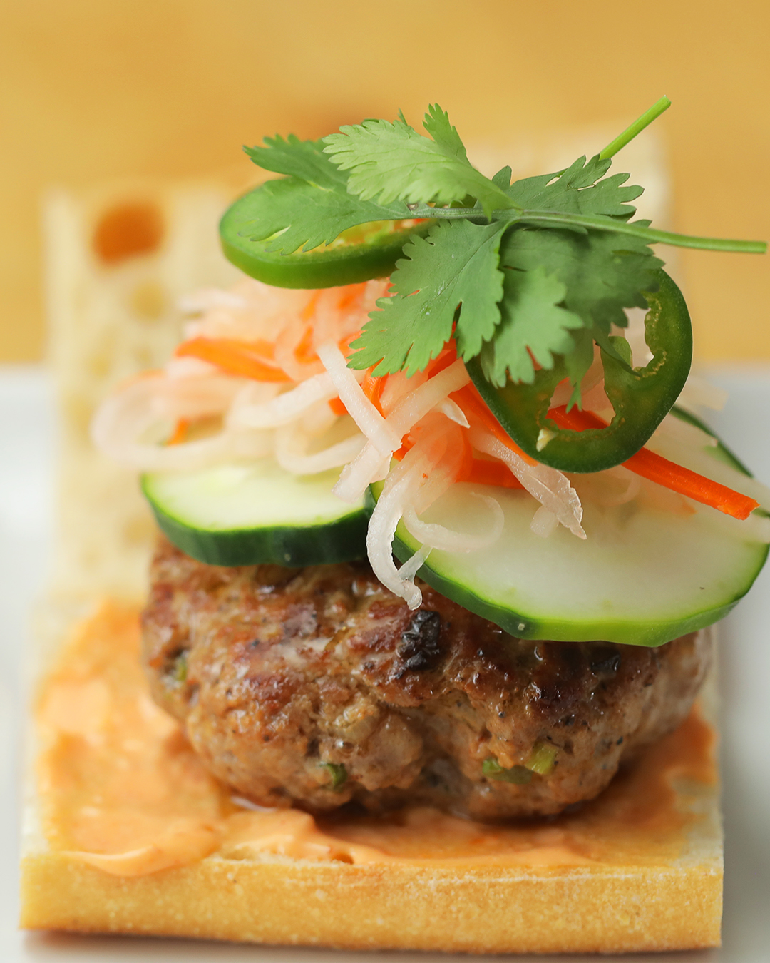 Top Chef Junior Pork Bánh Mì Burger