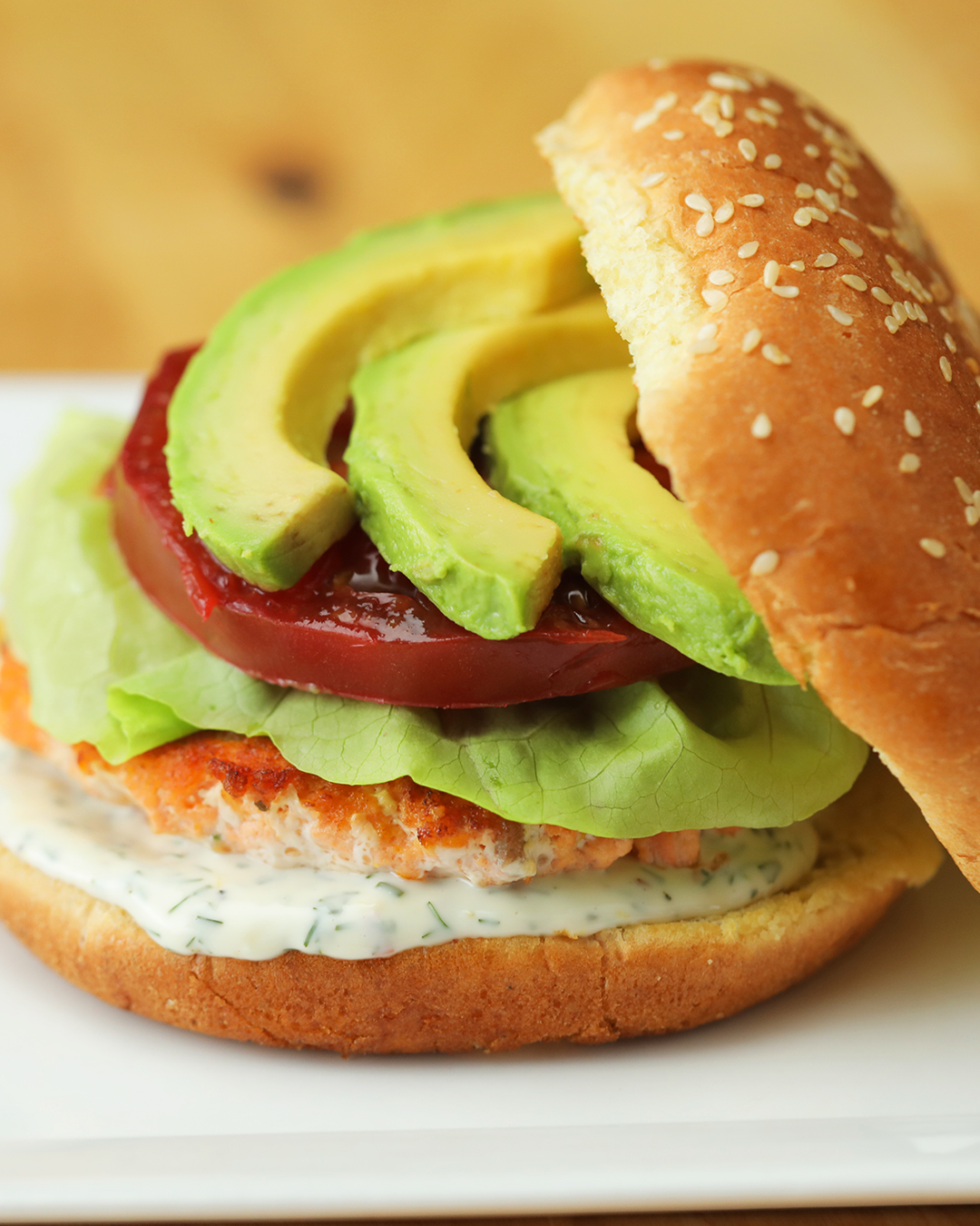 Top Chef Junior Citrus Salmon Burger