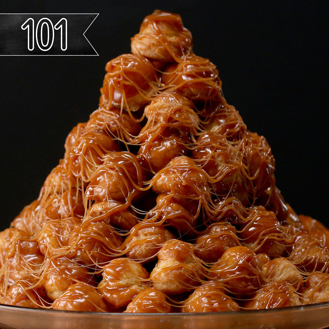 Tasty 101: How To Make A Croquembouche (Cream Puff Tower) Recipe by Tasty