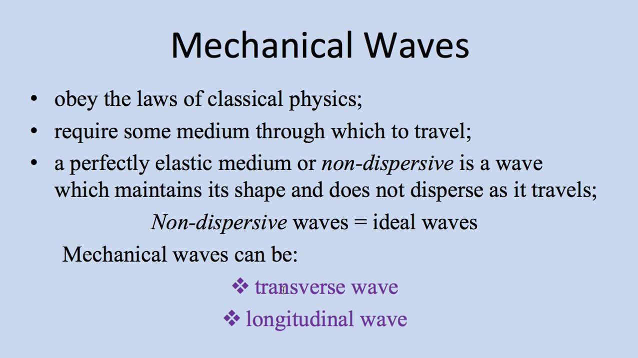 Mechanical Waves- Transverse and Longitudinal Waves Video Lesson