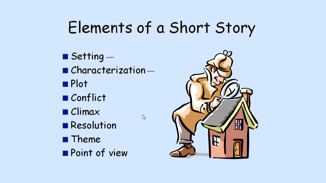 "the five elements of a short story essay Essays and criticism on the following entry represents criticism concerning mansfield's short story, ""the fly the story has elements found in many of."