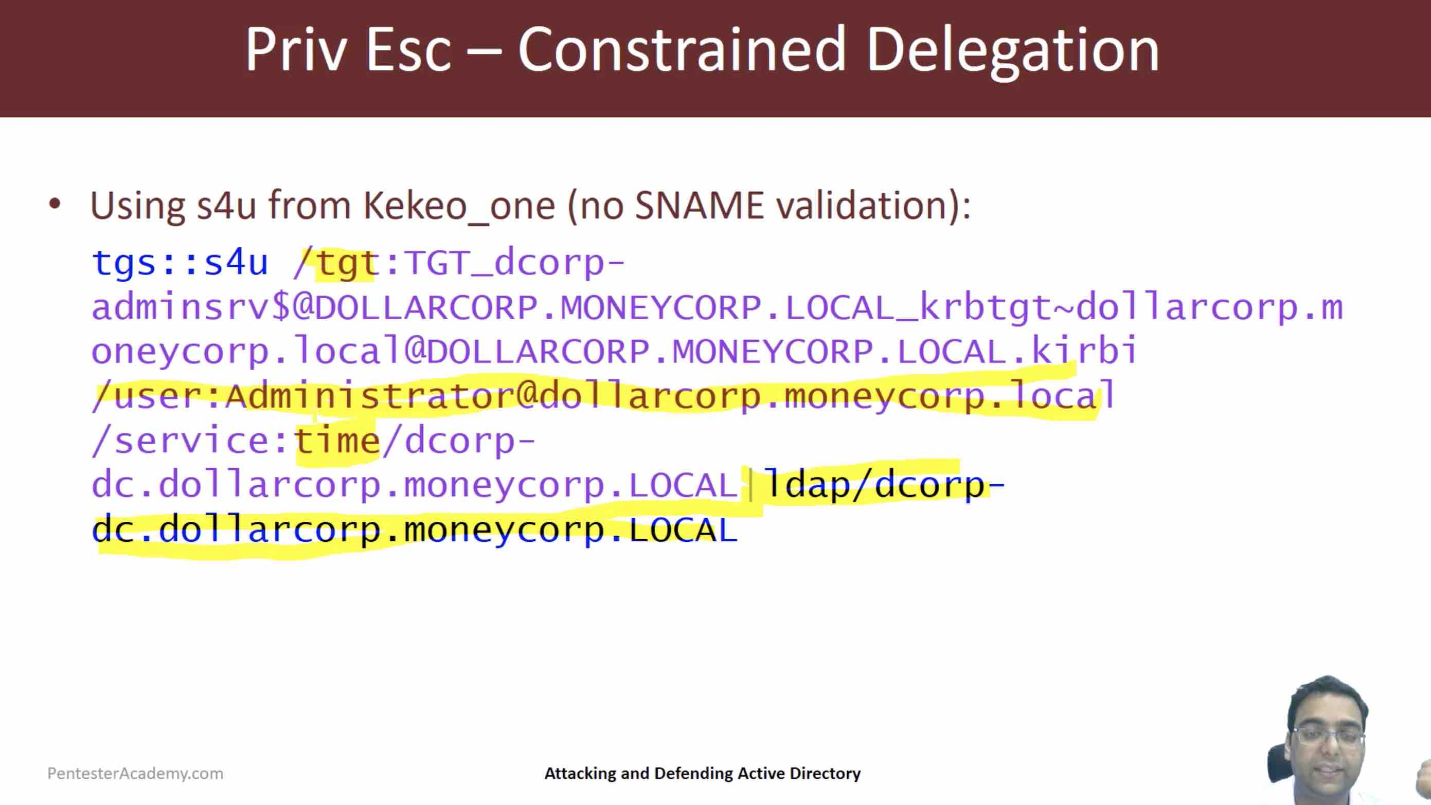 Domain Privilege Escalation: Constrained Delegation