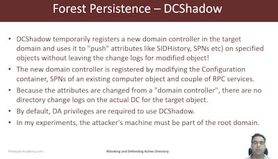 Forest Persistence DCShadow