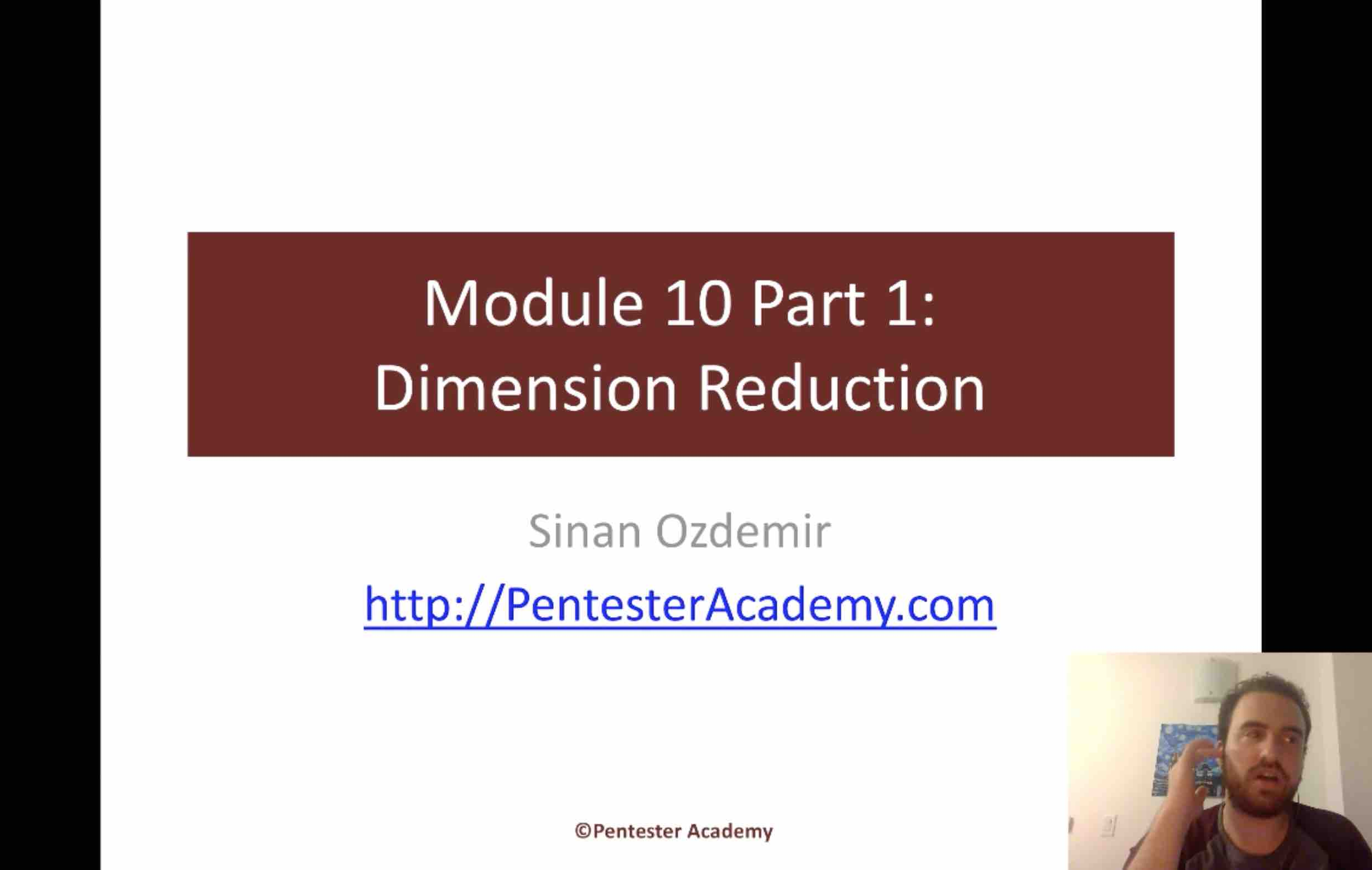 Module 10: Dimension Reduction Part 1