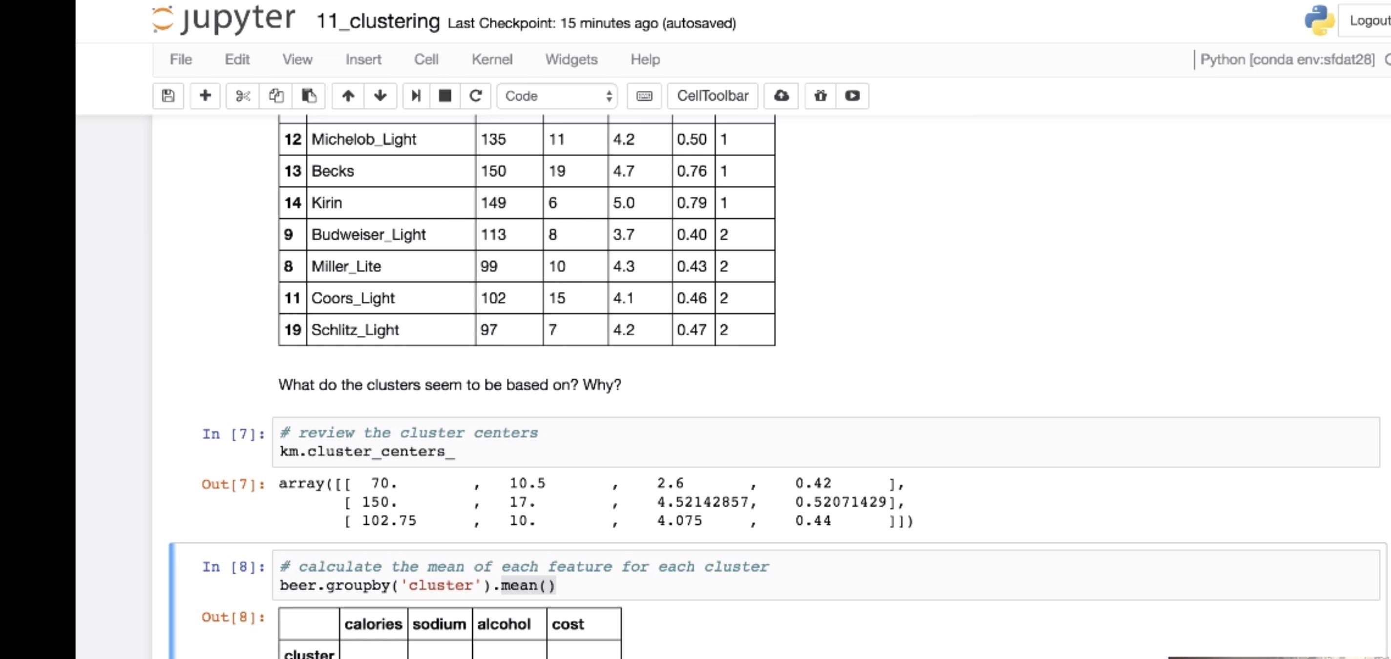 Module 11: Clustering Part 2