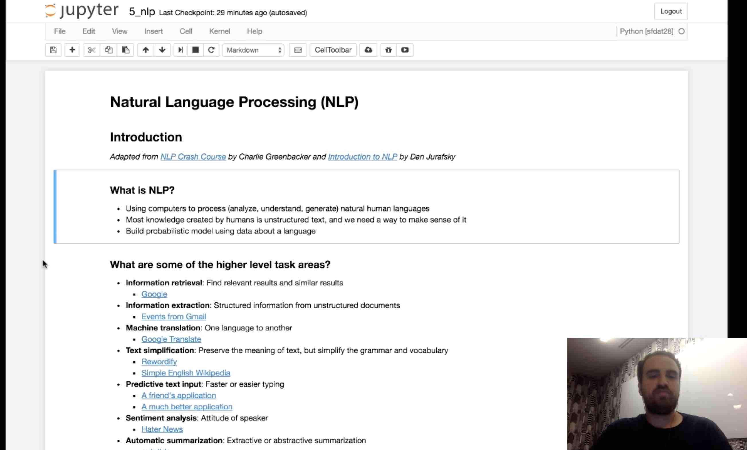 Module 5: Natural Language Processing Part 1