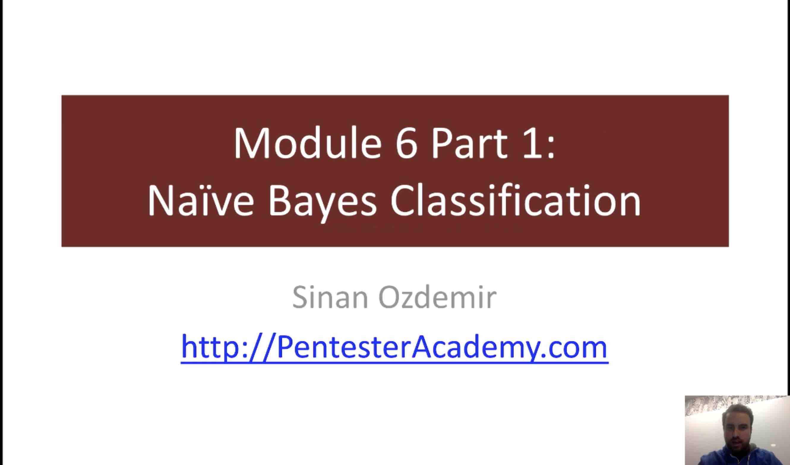 Module 6: Naive Bayes Classification Part 1