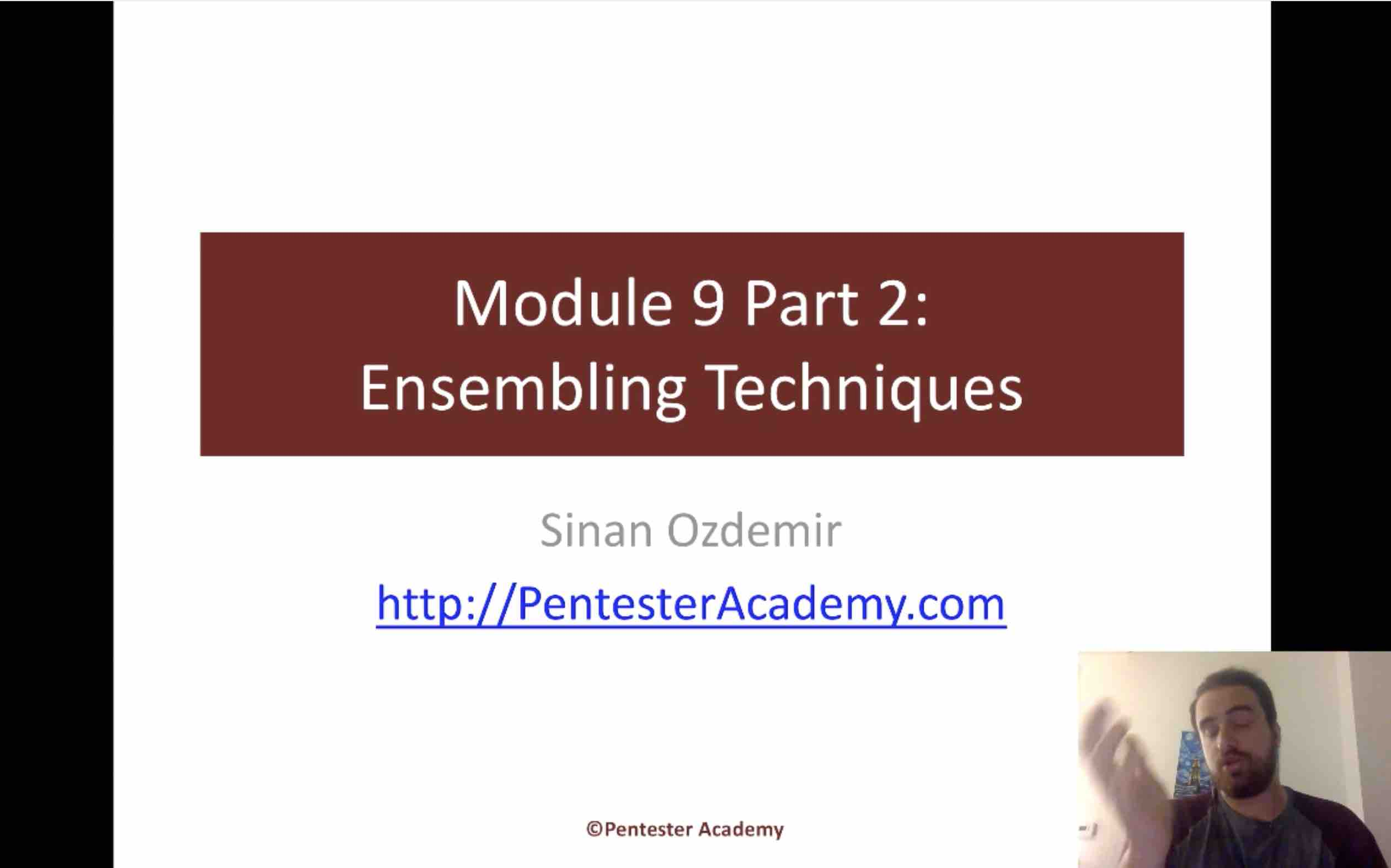 Module 9: Ensembling Techniques Part 2