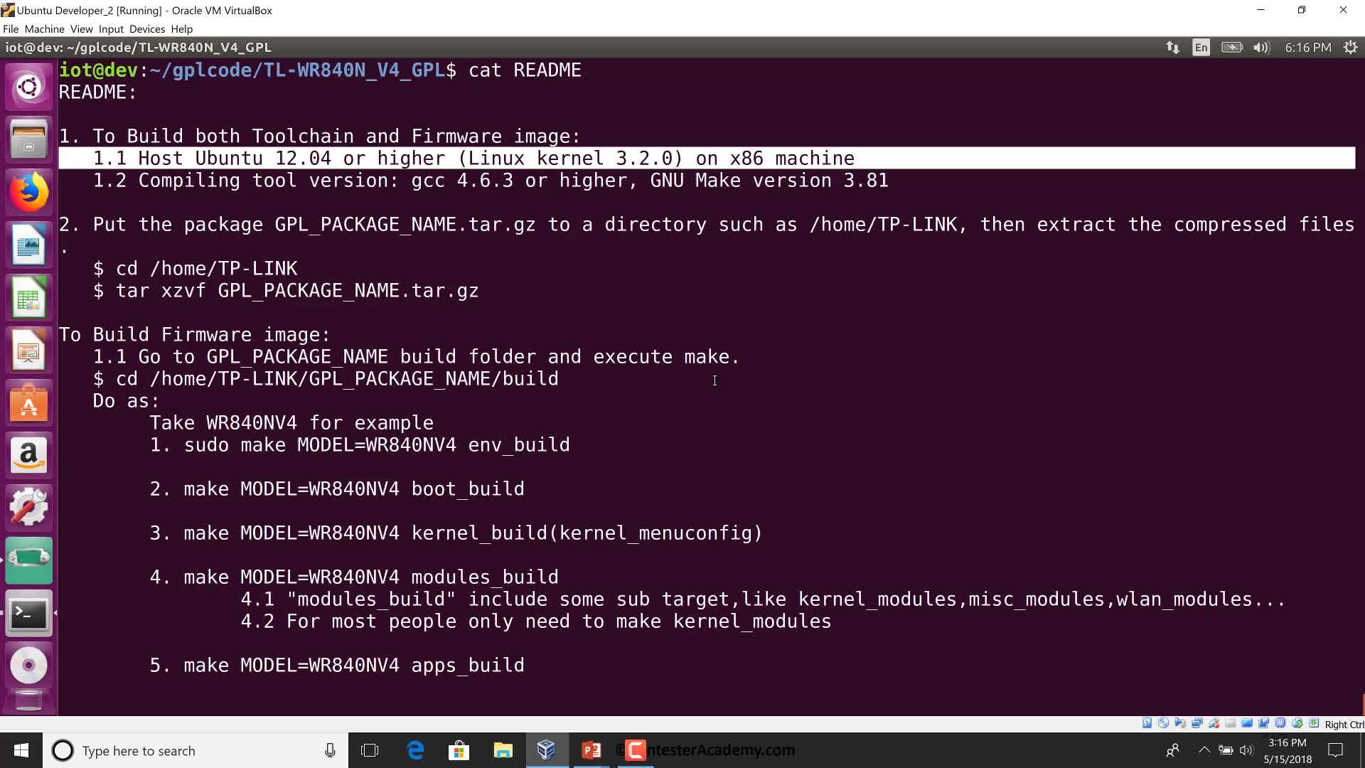 GPL Firmware: Kernel Compilation