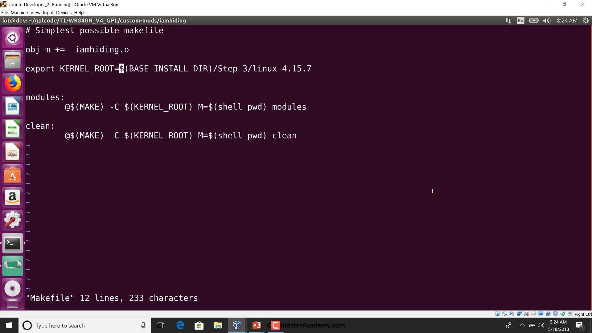 GPL Firmware: Porting iamhiding.ko