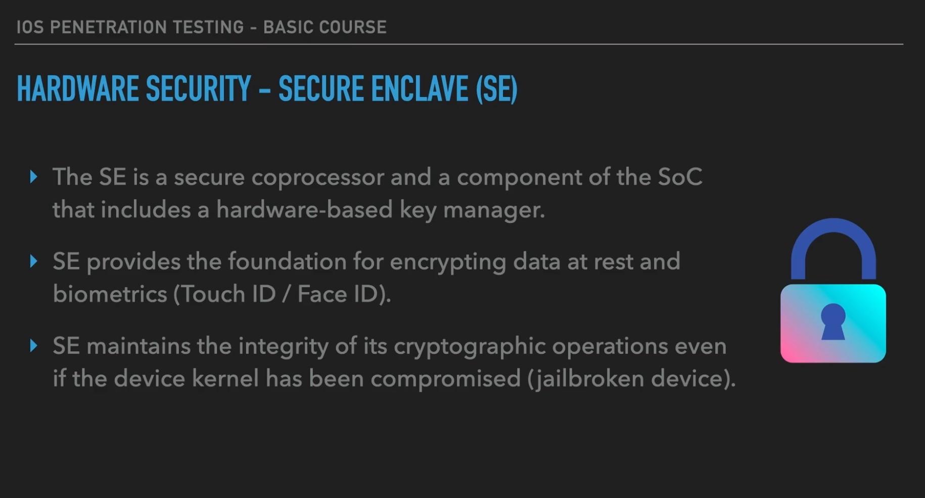 Module 2: iOS Security Architecture