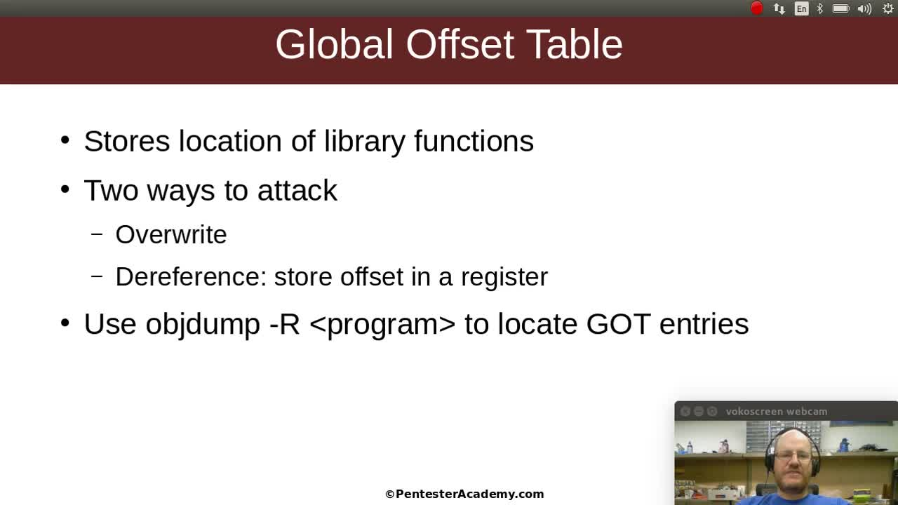 Stack Buffer Overflows Part 10: GOT Overwrite and Dereference