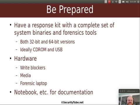 Forensic Basics: First Steps