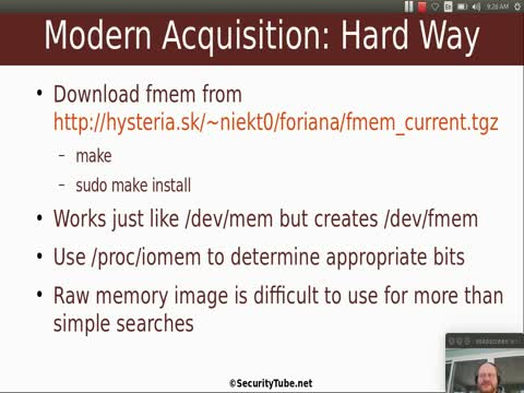 Live Analysis Part 2: Memory Acquisition Basics