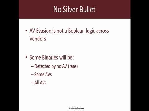 AV Evasion No Silver Bullet Part 1