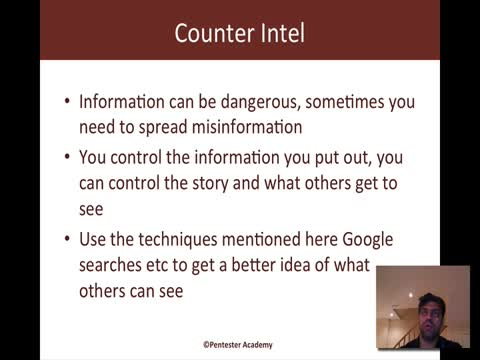 Counter Intel and Defenses