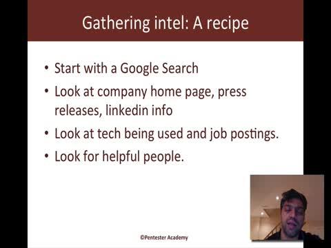 Intel Gathering Recipes