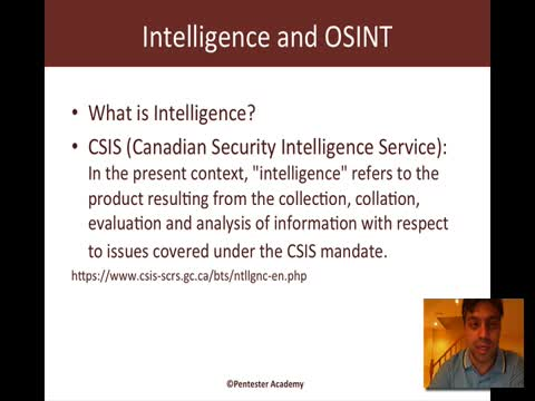 What is Intelligence and OSINT?