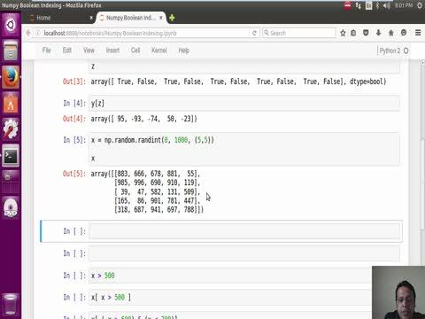 Numpy: Boolean Indexing