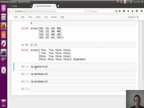 Numpy: Universal Functions