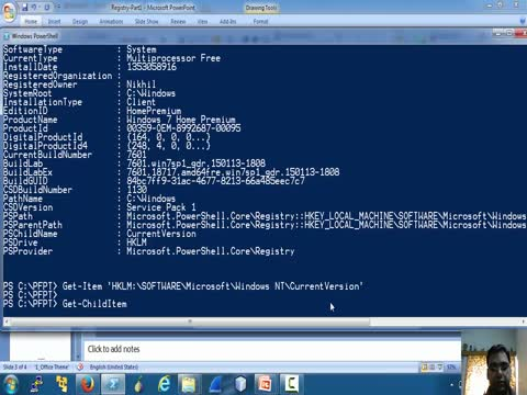 Registry and Powershell Part 1