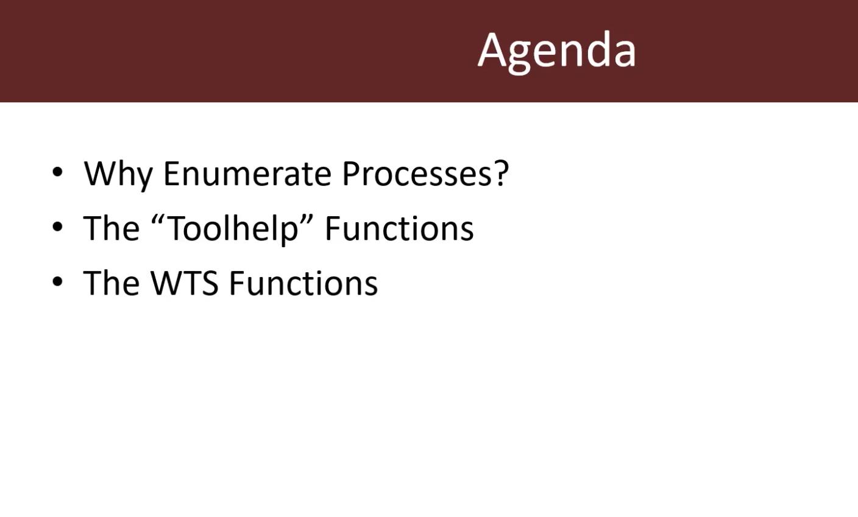 Module 2: Process Enumeration