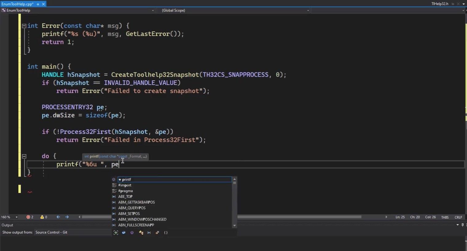 Module 2: Toolhelp API