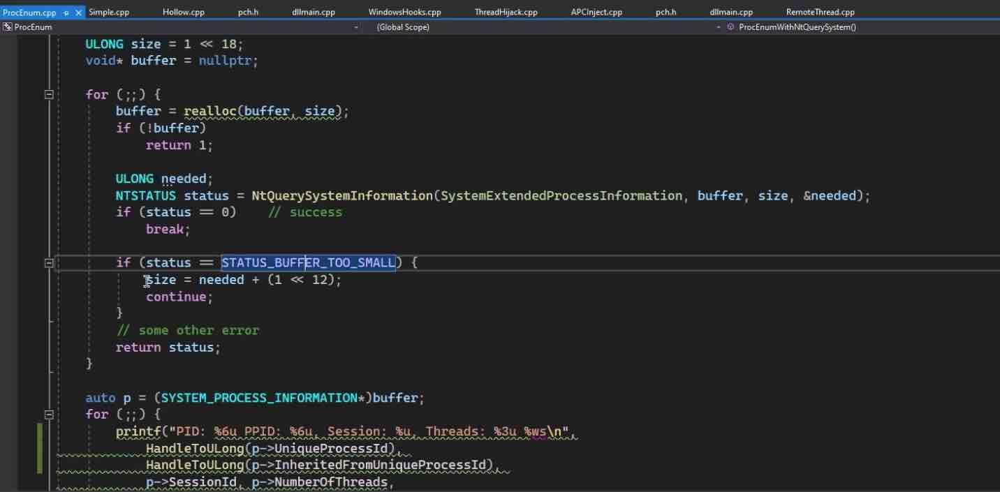 Module 2: NTQuerySystemInformation
